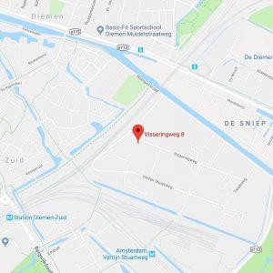 Kaart D-Tech Bouwgroep Vissering weg 8 1112 AS Diemen 800x800